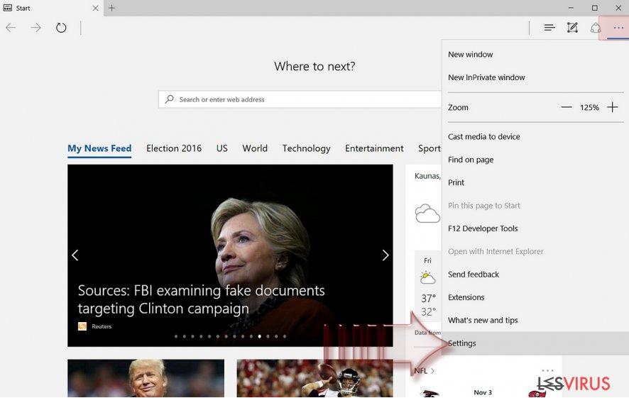 instantanea di Come resettare Microsoft Edge?