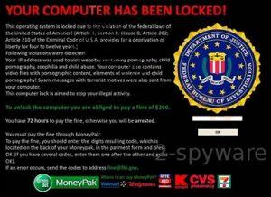 FBI Online Agent – una versione aggiornata del virus FBI