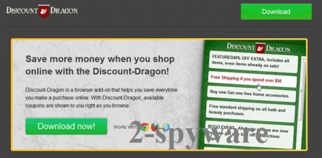 instantanea di il virus 'Ads by Discount Dragon'