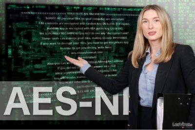 L'immagine del ransomware AES-NI