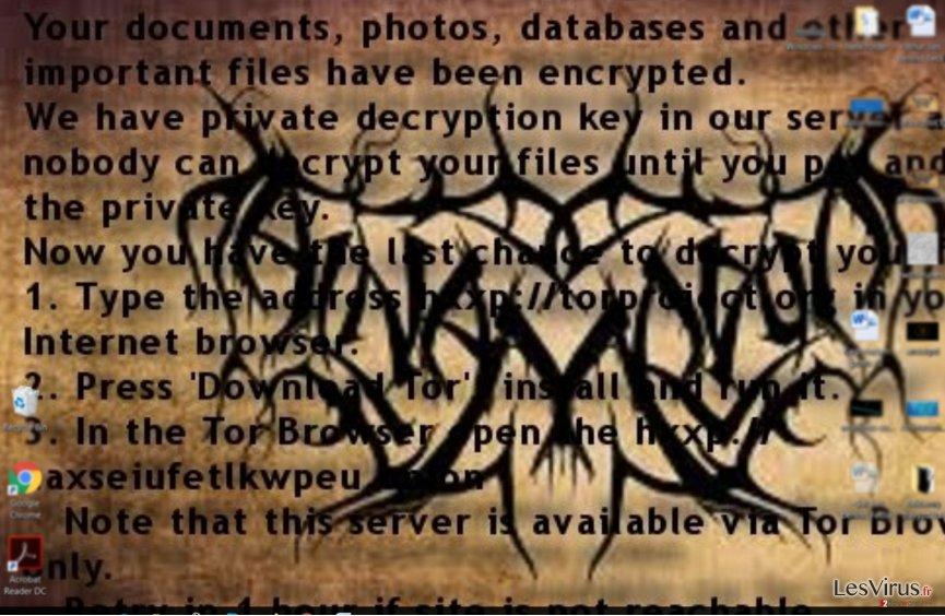 Nota del Ransom del Ransomware Al-Namrood