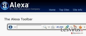 instantanea di Alexa Toolbar