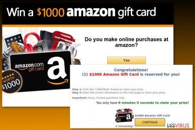 Esempio del virus Gift Card di Amazon