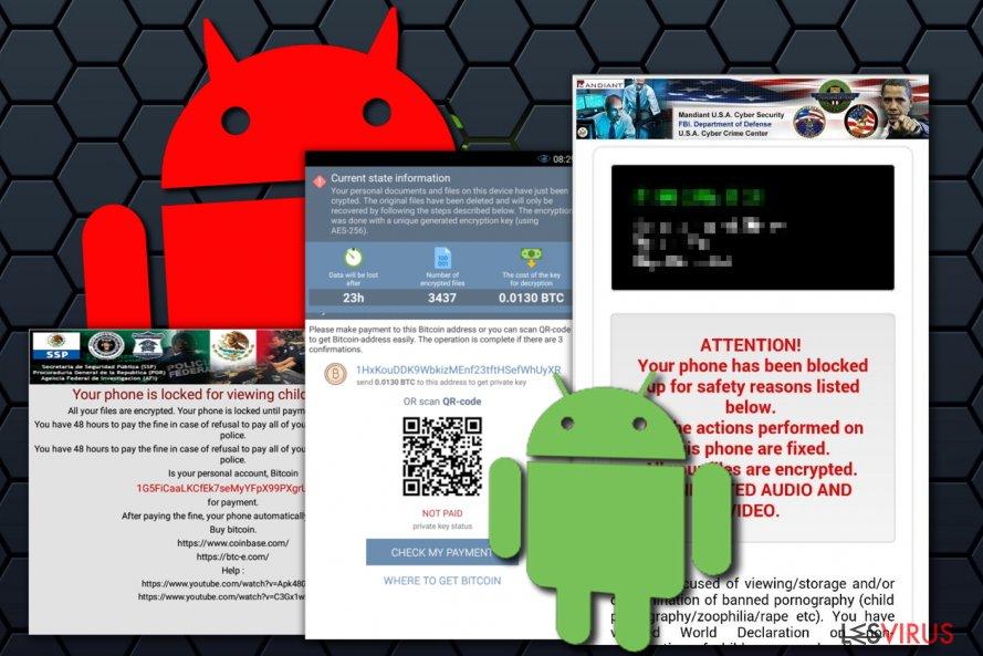 instantanea di il virus Android