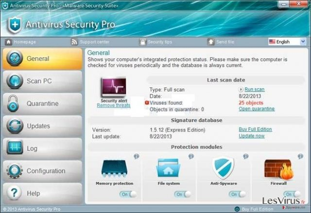 instantanea di Antivirus Security Pro