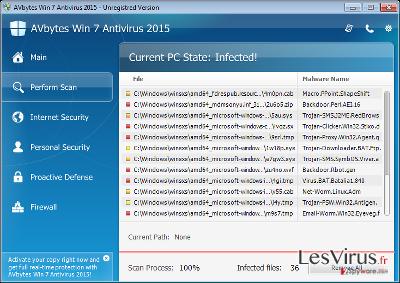 instantanea di AVbytes Win 7 Antivirus 2015