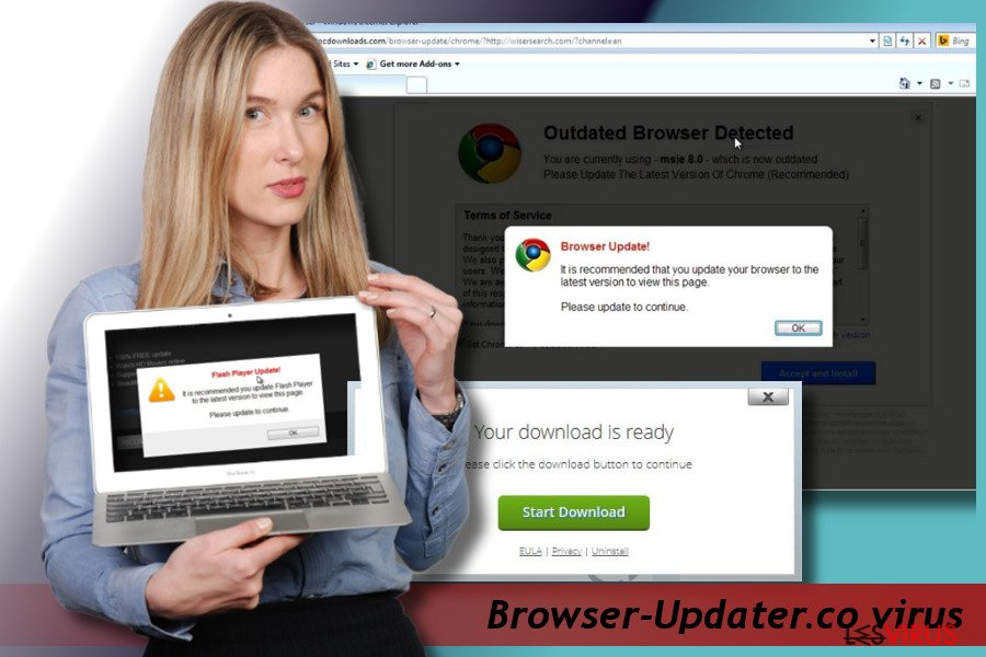 instantanea di il virus pop-up Browser-Updater.co