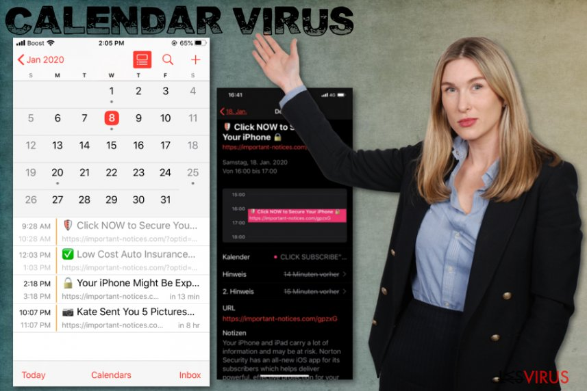 Il virus del Calendario su iPhone