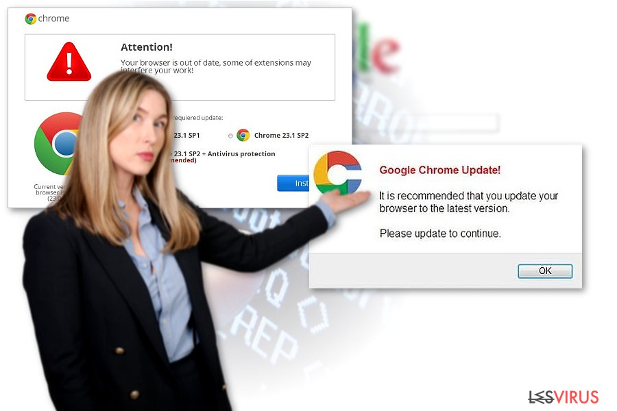 instantanea di Il virus Chrome redirect