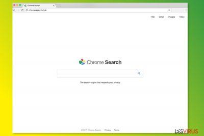 La homepage di ChromeSearch.club
