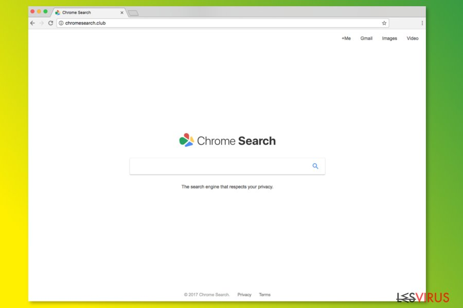 La homepage di ChromeSearch.club