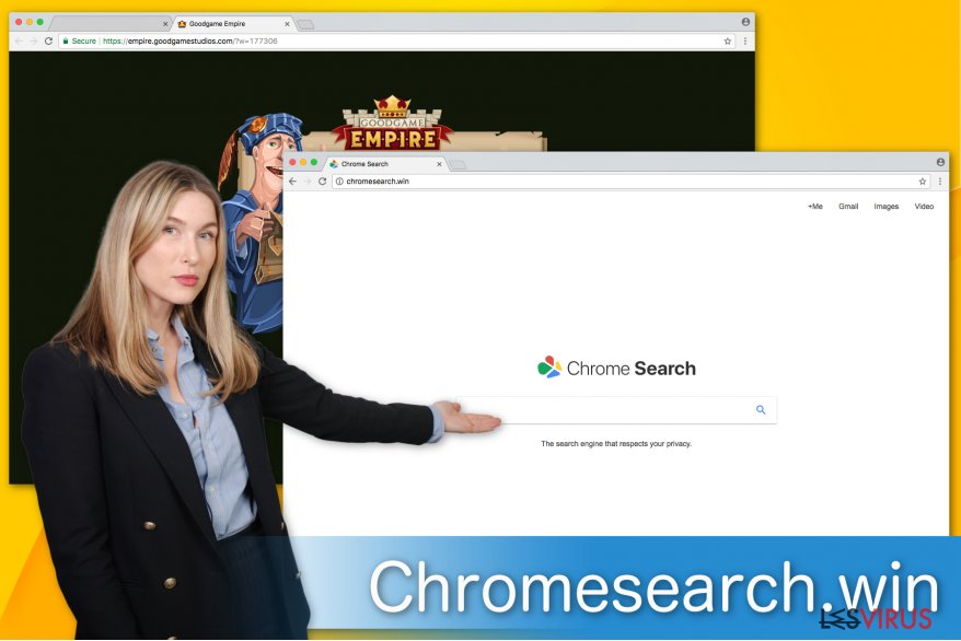 Un'immagine di Chromesearch.win