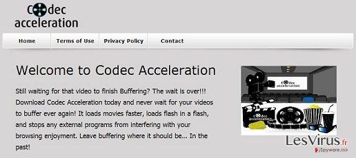 instantanea di Adware di Accelerazione Codec