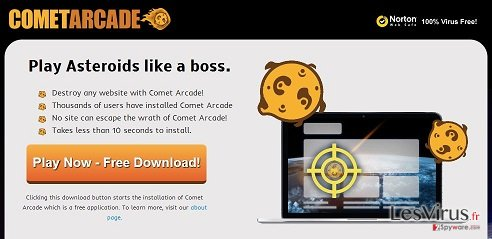 instantanea di Virus Comet Arcade