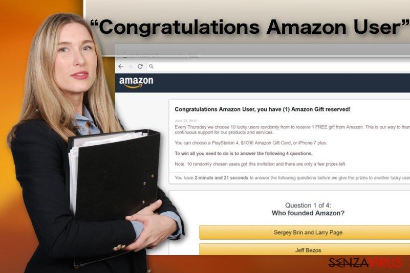 """Virus """"Congratulazioni utente Amazon"""""""