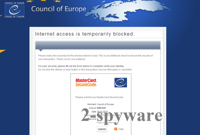 instantanea di Council of Europe virus
