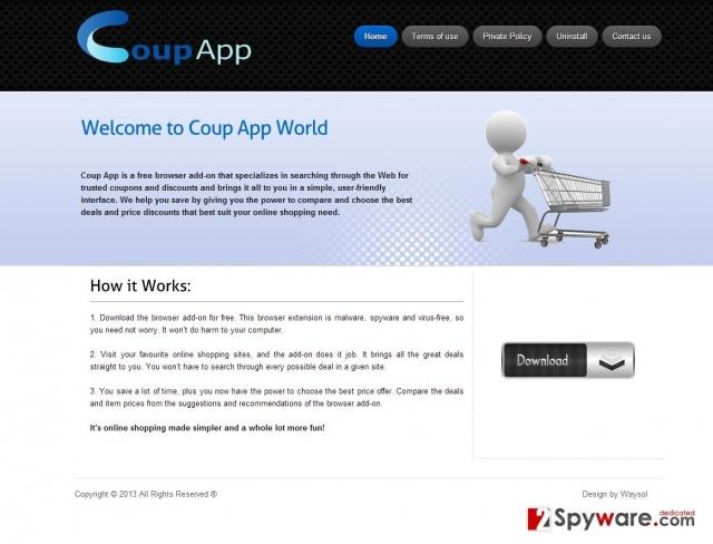 Le pubblicità di Coup App