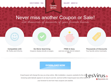 L'adware Coupon Genies