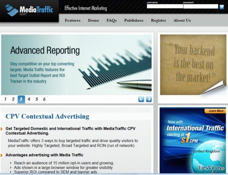 instantanea di il reindirizzamento di cpvfeed.mediatraffic.com