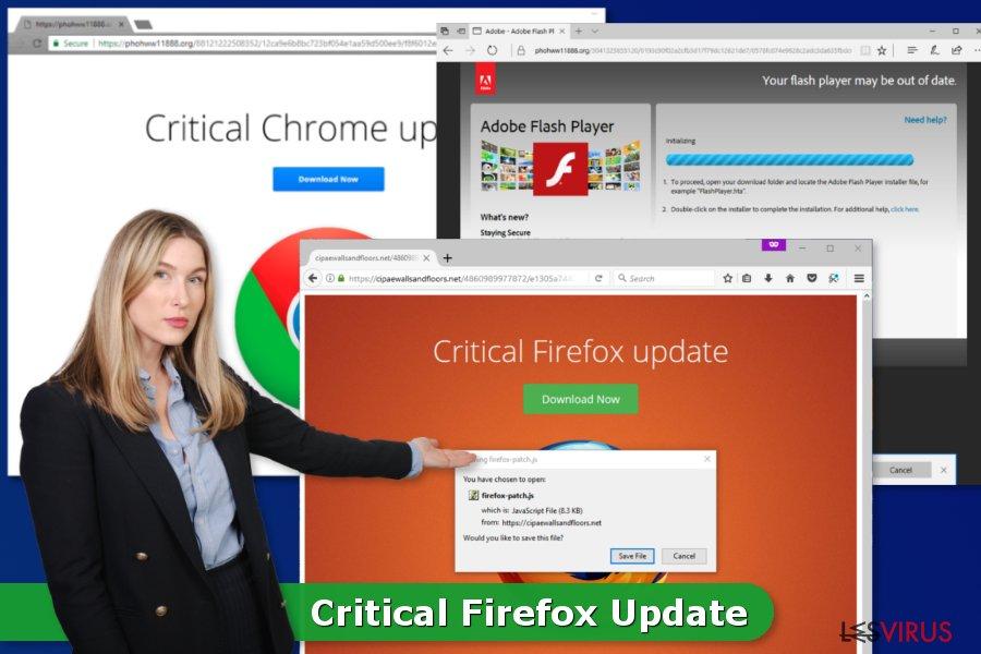 Il virus Aggiornamento Critico di Firefox
