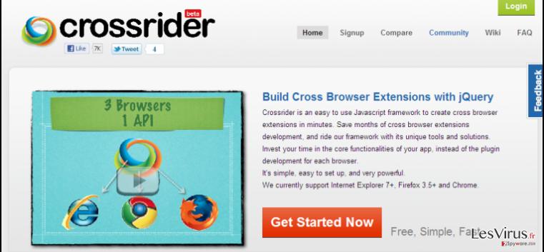 instantanea di Il reindirizzamento di Search.crossrider.com