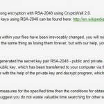 instantanea di Il virus CryptoWall 2.0