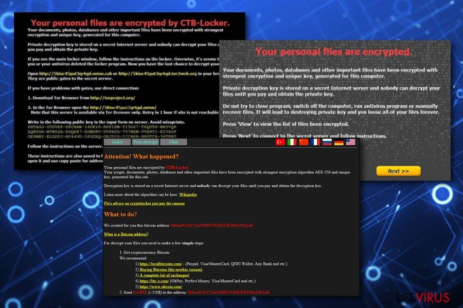 instantanea di Il virus CTB Locker