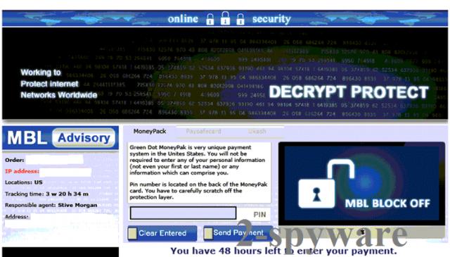 instantanea di il virus Decrypt Protect