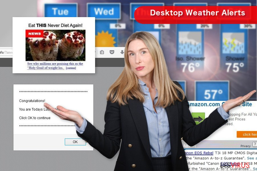 instantanea di Desktop Weather Alerts