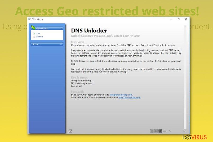 instantanea di L'adware DNS Unlocker