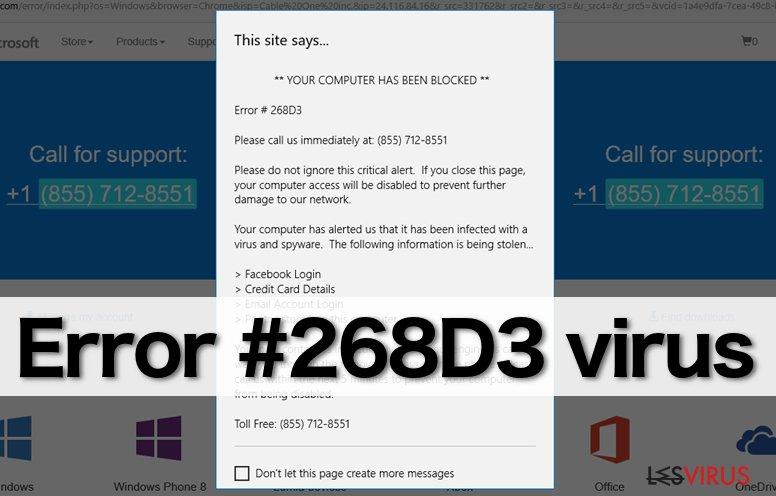 """instantanea di Il virus """"Error #268D3"""""""