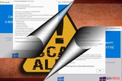 Uno screenshot della truffa Error 0x80072ee7