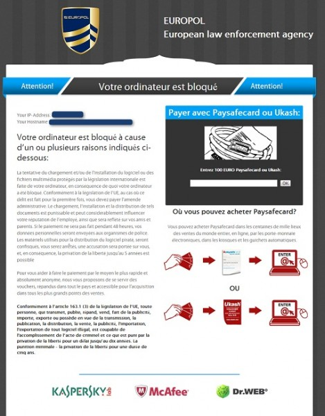 instantanea di European Law Enforcement agency virus