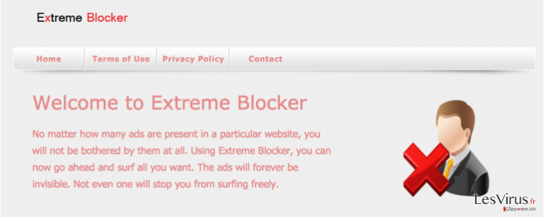 instantanea di Il virus Extreme Blocker