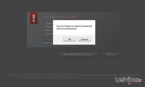 instantanea di Notice! Please update your FLV Player