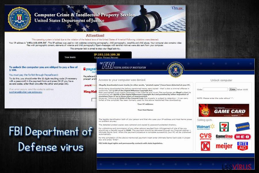 instantanea di Virus FBI