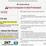 "instantanea di Le pubblicità pop-up ""Firewall Warning"""