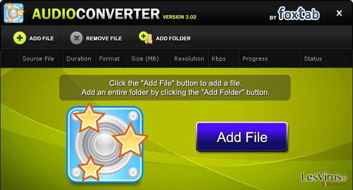 instantanea di FoxTab Audio Converter