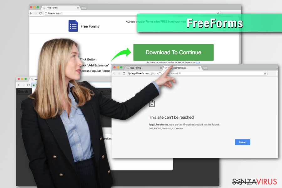 Il browser hijacker  FreeForms