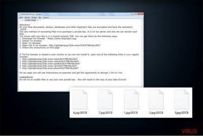 Il testo del riscatto del ransomware GandCrab
