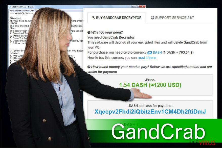 Un'immagine del ransomware GandCrab