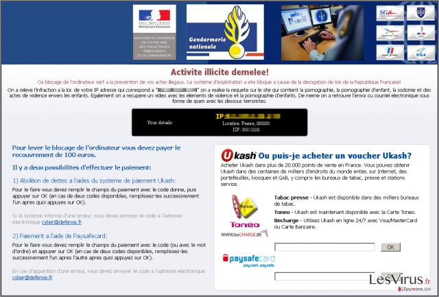 instantanea di Virus Gendarmerie