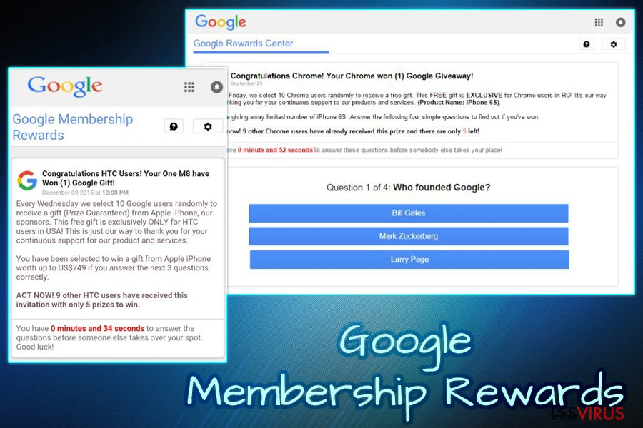 Il virus Google Membership Reward