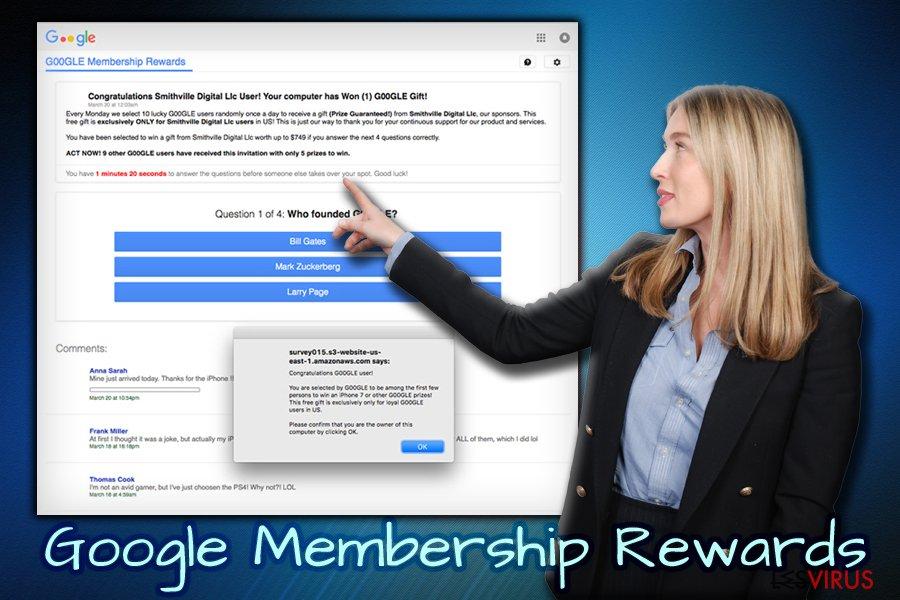 Il sondaggio truffa Google Membership Reward