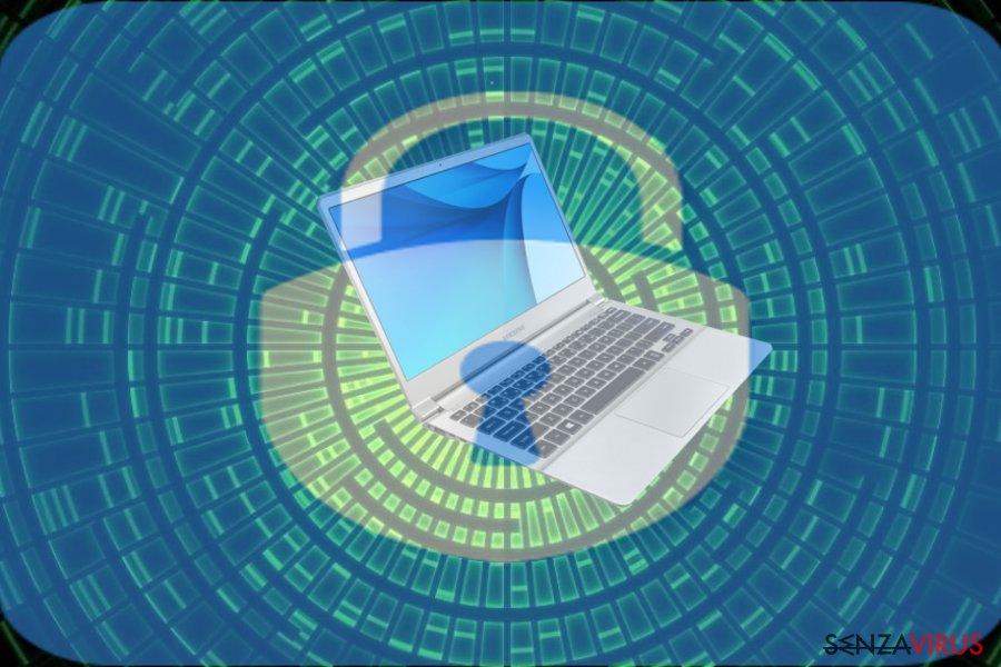 Un'immagine del ransomware GuardBTC@cock.li