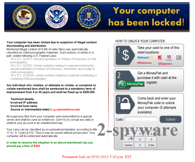instantanea di Homeland Security virus