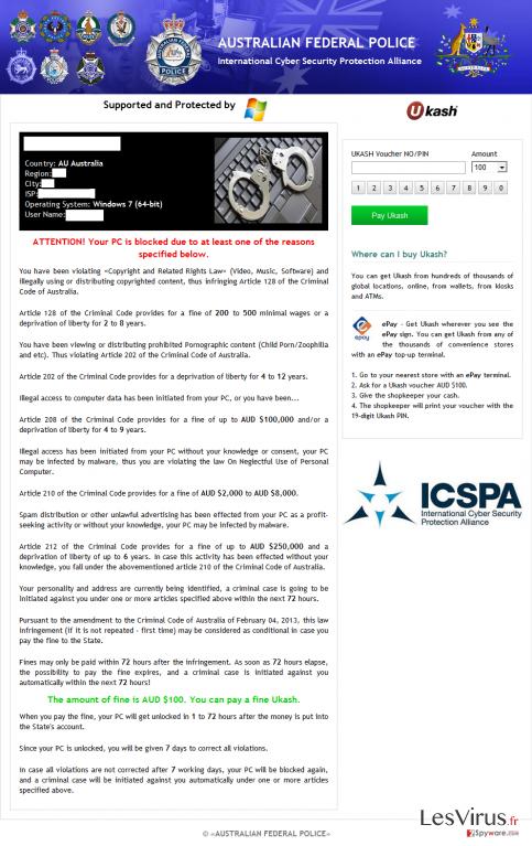 instantanea di ICSPA virus
