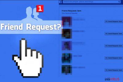 Il virus delle Richieste d'amicizia di Facebook invia richieste d'amicizia agli sconosciuti