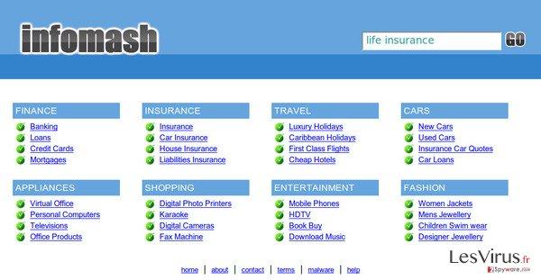 instantanea di InfoMash redirect