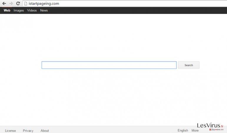instantanea di Istartpageing.com hijack